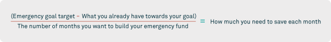 emergency fund amount calculation